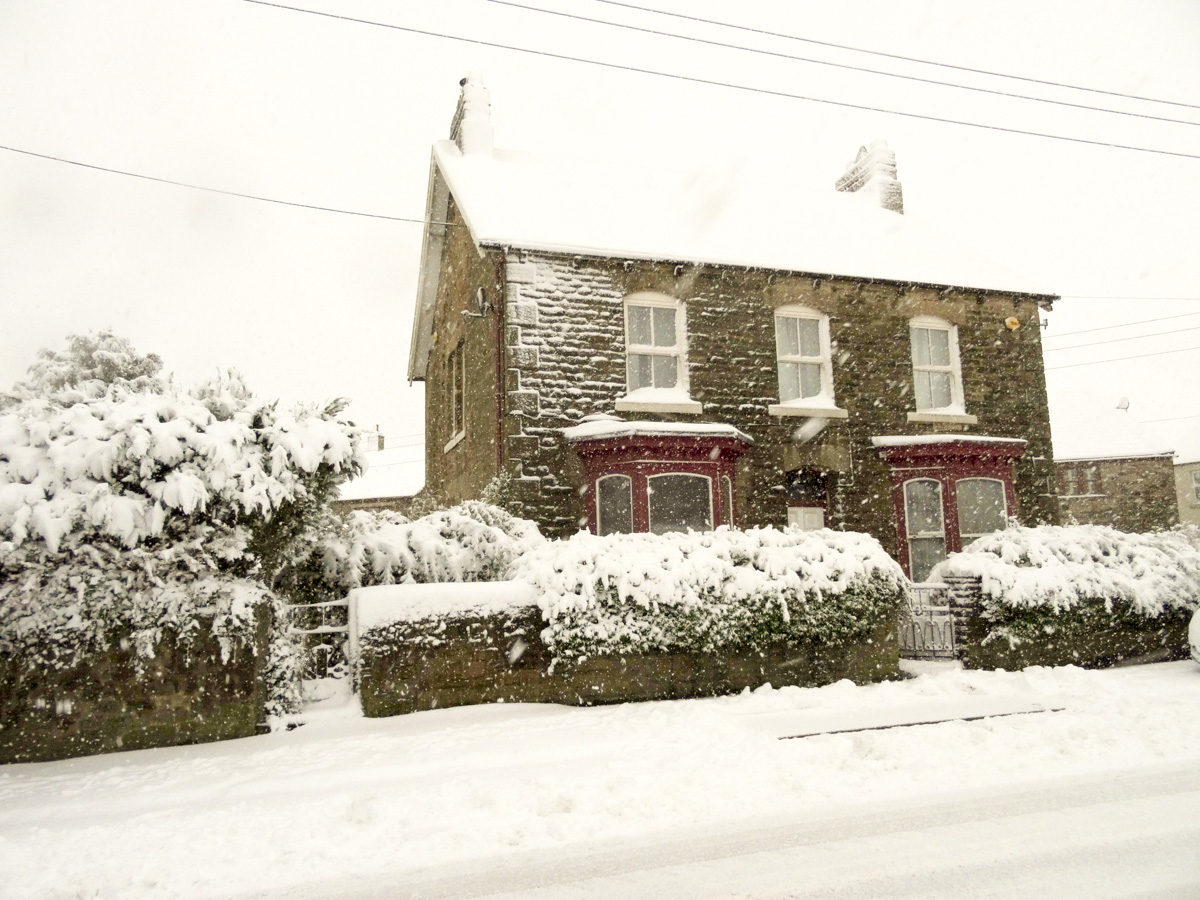 Copley winter wonderland the risk of living in england 39 s for My dream house photo gallery